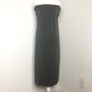 Caslon heather gray maxi skirt / dress, NWT,size M